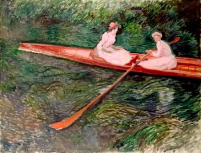クロード・モネ《バラ色のボート》1890年 ポーラ美術館蔵.jpg